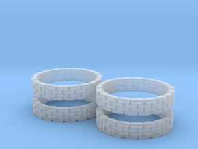 Sandbag Ring (x4) 1/285 in Smooth Fine Detail Plastic