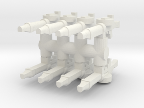Lewis Gun (x8) 1/35 in White Natural Versatile Plastic