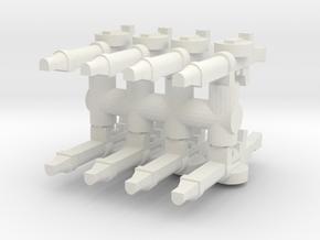 Lewis Gun (x8) 1/35 in White Natural Versatile Plastic