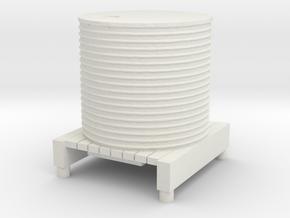 Water Tank 1/87 in White Natural Versatile Plastic