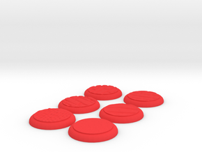 set of wargaming 30mm based in Red Processed Versatile Plastic