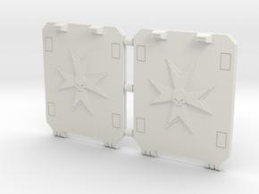 Space Templar Light Tank Door Standard Pattern in White Natural Versatile Plastic
