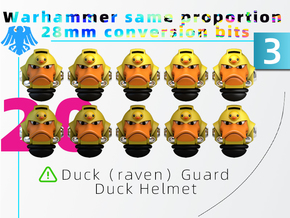MK Galaxy Duck(raven)Guard Duck Helmet  Model 3 in Smooth Fine Detail Plastic