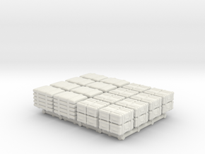 1-87 Scale Pallet Loads in White Natural Versatile Plastic
