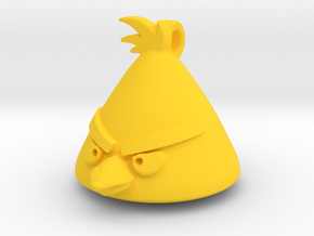 Angry Birds-Chuck Keychain  in Yellow Processed Versatile Plastic