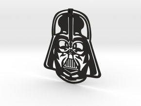 Darth Vader Face Wall Hanging in Black Natural Versatile Plastic