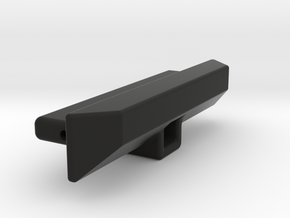 SCX24 Custom Crawler rear bumper with hitch receiv in Black Natural Versatile Plastic