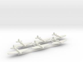 6pk Supermarine SeaFire Mk XV 1:700 simp WW2 in White Natural Versatile Plastic