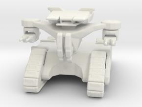 Terminator Hunter Killer Tank 70mm games rpg in White Natural Versatile Plastic