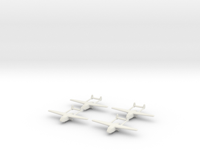 Go-242 German Glider 1/700X4 in White Natural Versatile Plastic