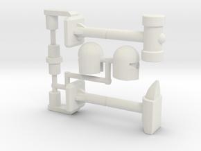 Refraktor to Rack n' Ruin Kit (Siege) in White Natural Versatile Plastic