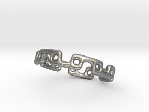 Alternating Links - Ring in Raw Silver