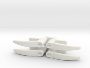 EC135 Door Handles 1/4 in White Natural Versatile Plastic