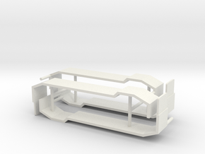 1/50th Triaxle Fenders with lift axle hump (2) in White Natural Versatile Plastic