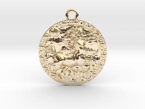Sagittarius-Medaillon in 14K Yellow Gold