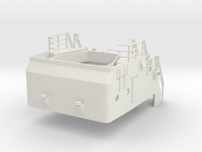 Superstructure 1/100 V60 fits Harbor Tug  in White Premium Versatile Plastic