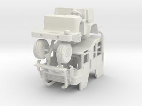 1/24 Pierce Quantum Raised Roof Cab in White Natural Versatile Plastic