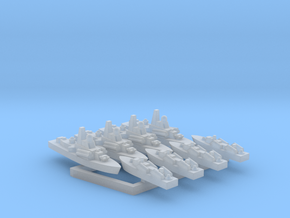 30SS03 1:3000 nanuchka+osa-(4+4) in Smoothest Fine Detail Plastic