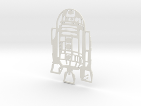 R2D2 Wall Hanging in White Natural Versatile Plastic