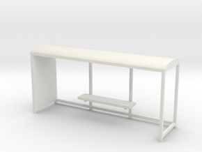 Bus stop 1/56 in White Natural Versatile Plastic