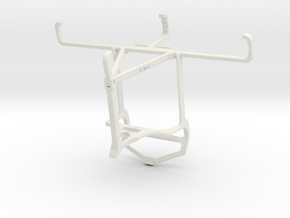 Controller mount for PS4 & Samsung Galaxy Xcover F in White Natural Versatile Plastic
