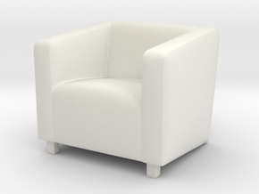ArmChair 02. 1:24 Scale  in White Natural Versatile Plastic