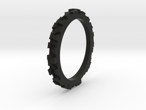 RING Voronoi Universe i1 TALLA 6 in Black Natural Versatile Plastic: 6 / 51.5
