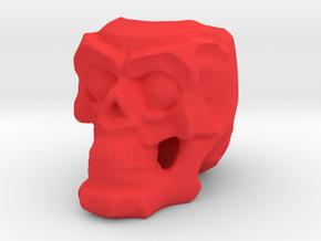 Skull Planter in Red Processed Versatile Plastic