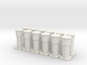 Water Tower x12 in White Natural Versatile Plastic