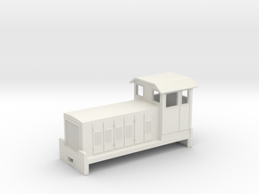 "HOn30 Australian Cane Locomotive 2 ""Amye"" in White Natural Versatile Plastic"