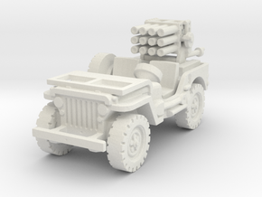Jeep with 107mm MLR 1/87 in White Natural Versatile Plastic
