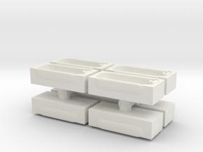 Modern Bath (x8) 1/144 in White Natural Versatile Plastic