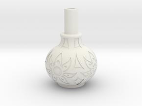 Table Flower Pot in White Natural Versatile Plastic