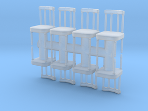 Antique Chair (x8) 1/100 in Smooth Fine Detail Plastic