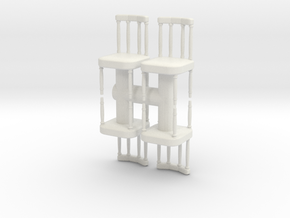 Antique Chair (x4) 1/43 in White Natural Versatile Plastic