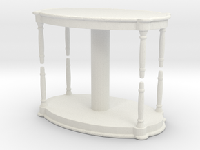 Antique Table (x2) 1/76 in White Natural Versatile Plastic