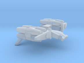 Chaldean Fighter / 2.5cm - 1in in Smooth Fine Detail Plastic
