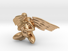 The winged neolithic goddess in Polished Bronze