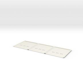 1:50 Overhead Door 4x4.5m 3pc in White Natural Versatile Plastic