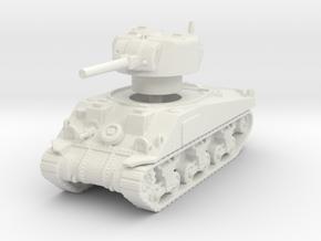Sherman V tank 1/120 in White Natural Versatile Plastic