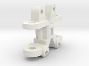 KYOSHO TRIUMPH FRONT HUB  in White Natural Versatile Plastic