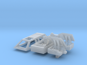 Snow speeder, Closed Canopy and Flaps, 1:144 in Smoothest Fine Detail Plastic