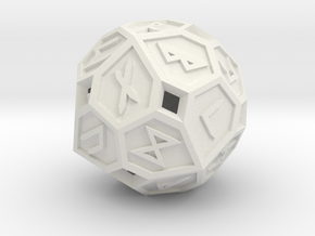 Elder Futhark Die24 in White Natural Versatile Plastic