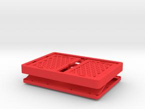 CREATE Folding Box in Red Processed Versatile Plastic
