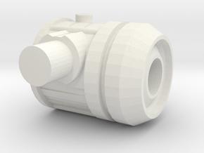 Combiner Adapter - Refraktor - Prototype in White Natural Versatile Plastic