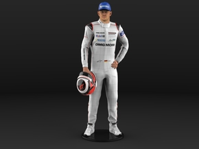 Nico Le Mans 24H 2015 1/8 Standing Figure in Natural Full Color Sandstone