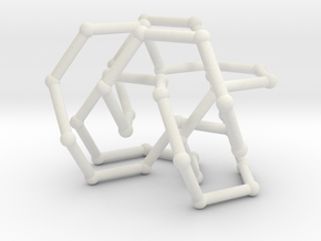 Pretzel knot in FCC lattice in White Natural Versatile Plastic