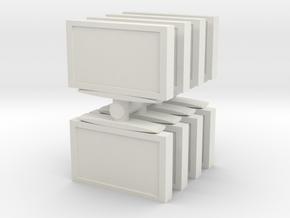 Television (x8) 1/100 in White Natural Versatile Plastic