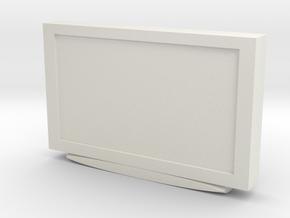 Television 1/48 in White Natural Versatile Plastic