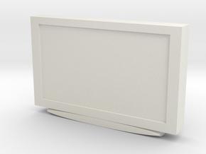 Television 1/24 in White Natural Versatile Plastic
